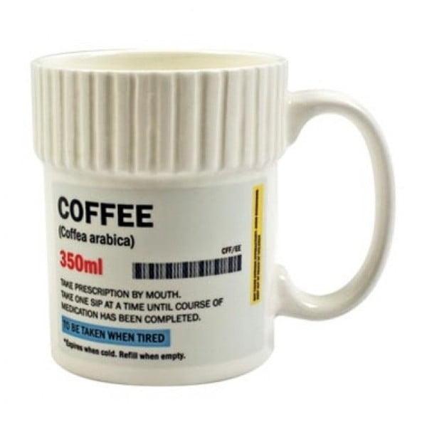 Kubek ceramiczny w kształcie pojemnika na leki Gift Republic Pill, 350ml