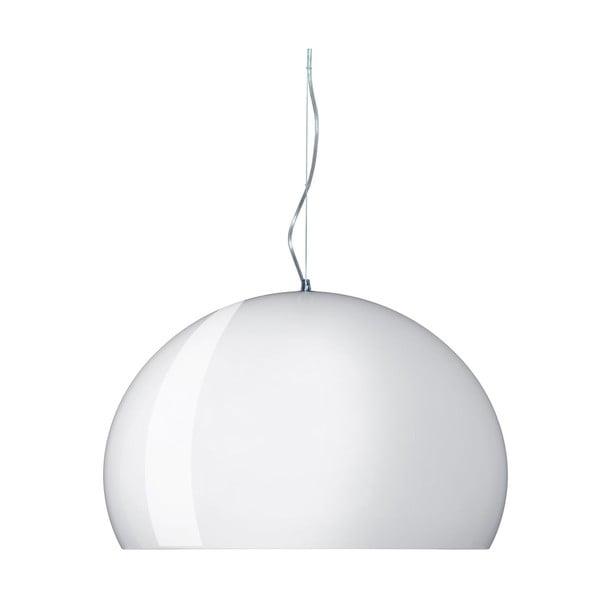 Lesklé bílé  stropní svítidlo Kartell Fly, ⌀52cm