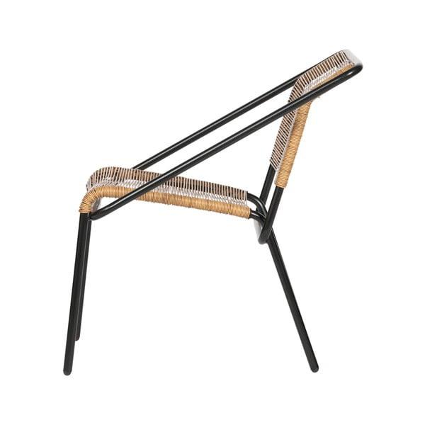 Černá židle vhodná i do exteriéru BePureHome Wisp