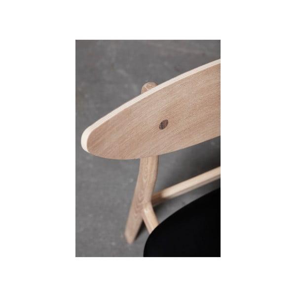 Sada 2 jídelních židlí z masivního dubového dřeva s oranžovým sedákem WOOD AND VISION Chief