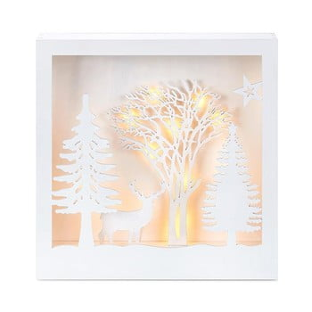 Decorațiune luminoasă cu LED Markslöjd Folkabo, înălțime 27 cm, alb