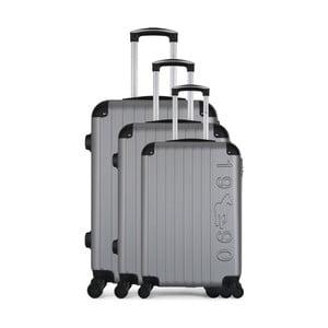 Sada 3 šedých cestovních kufrů na kolečkách GENTLEMAN FARMER Cadenas Integre