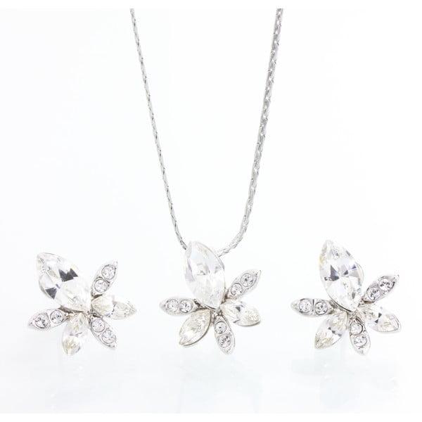 Set náhrdelníku a náušnic s krystaly Swarovski Elements Laura Bruni Hermosa