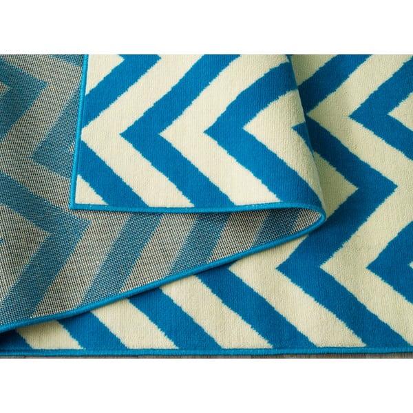 Modrý koberec Carpe, 200x290 cm