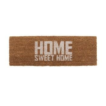 Preș PT LIVING Home Sweet Coir, 75 x 26 cm, alb maro imagine