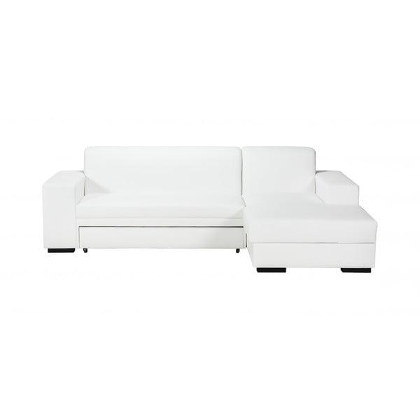 Rozkládací pohovka A-Maze s úložným prostorem 245 cm, bílá