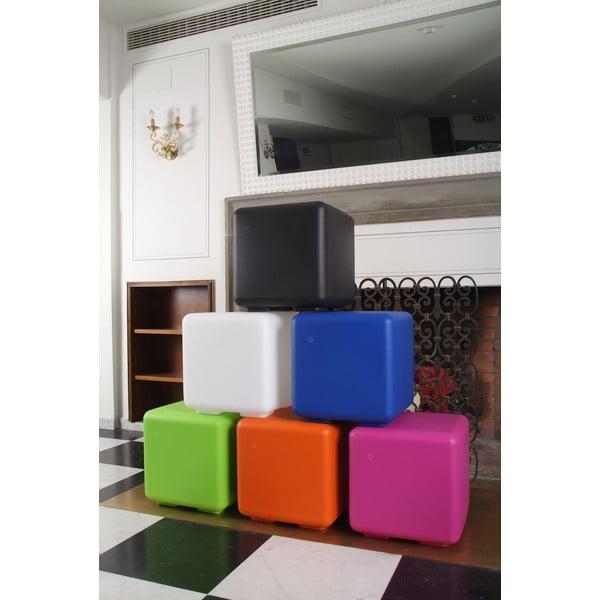 Fluorescenční stolek Cubo, modrý