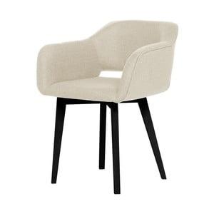 Krémová jídelní židle s černými nohami My Pop Design Oldenburg