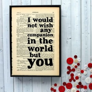 Plakát v dřevěném rámu Shakespeare Companion