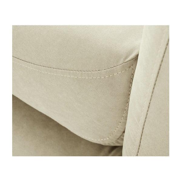 Canapea șezlong cu cotieră pe partea dreaptă Scandi by Stella Cadente Maison Constellation, crem
