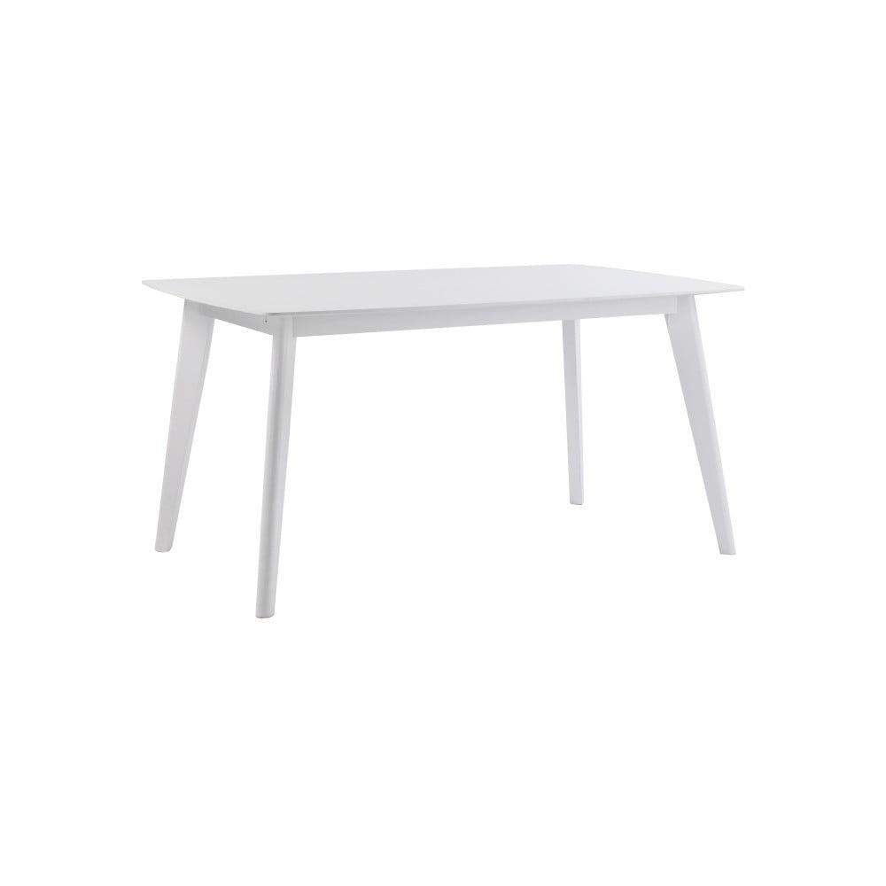 Bílý dubový jídelní stůl Folke Sylph, délka 150 cm