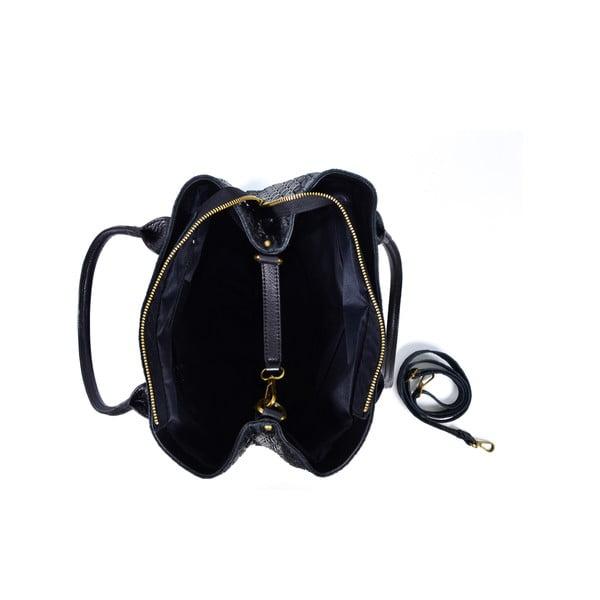 Kožená kabelka Dom, černá