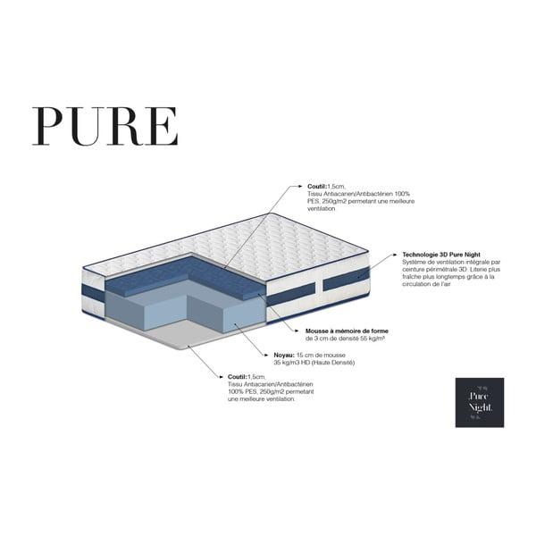 Matrace s paměťovou pěnou Pure Night Pure, 140x190 cm