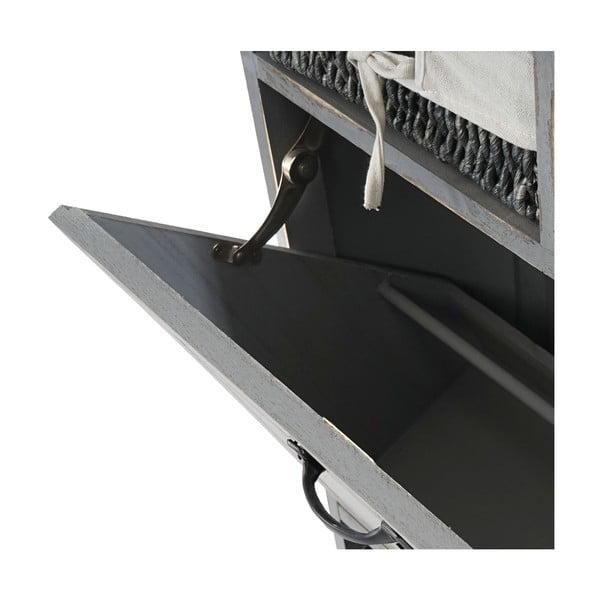 Botník Shabby Cabinet, šedý