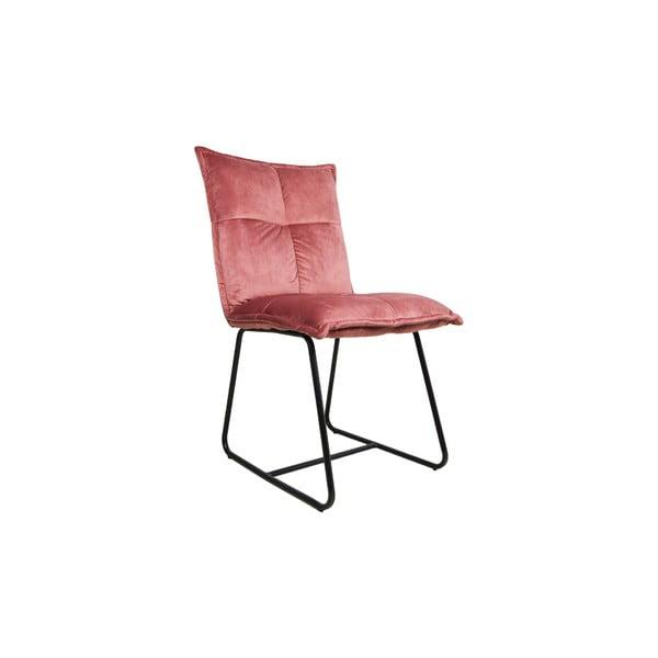 Růžová jídelní židle HMS collection Estelle