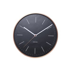 Ceas de perete Present Time Minimal, negru