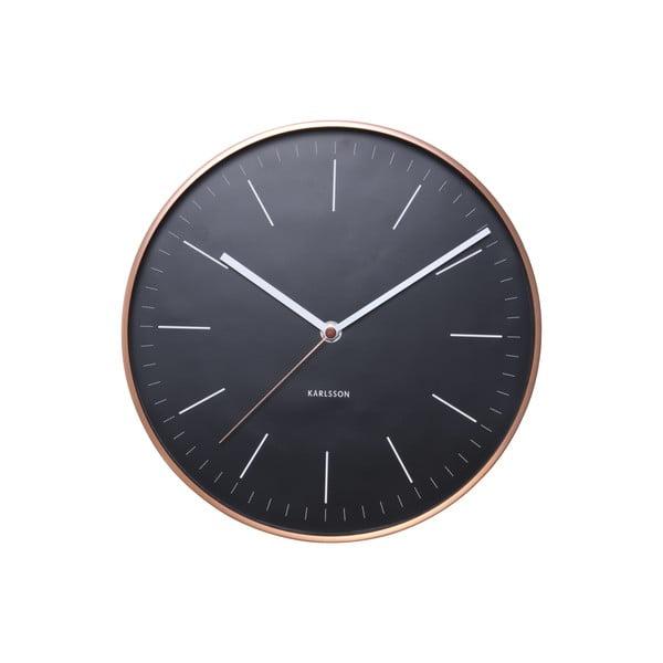 Hodiny Present Time Minimal Black