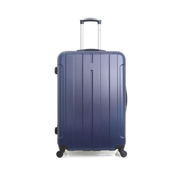 Modrý cestovní kufr na kolečkách Hero Fogo, 93 l