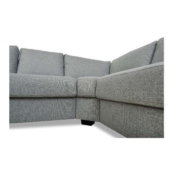 Canapea pe colț Furnhouse Lucie, gri deschis