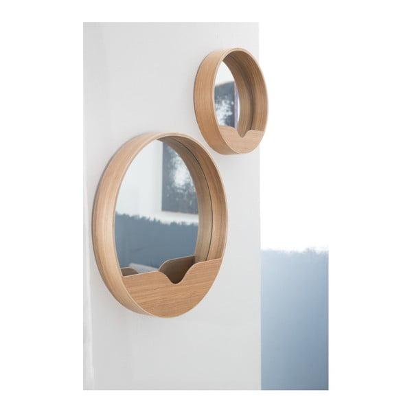 Zrcadlo s odkládacím prostorem Zuiver Round Wall, ⌀ 40 cm