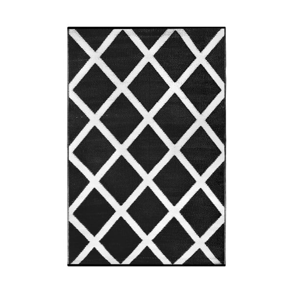 Černobílý oboustranný venkovní koberec Green Decore Granda, 120 x 180 cm