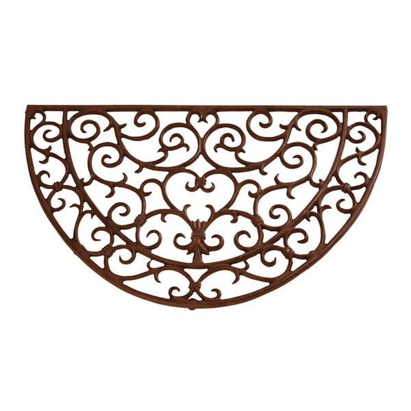 Litinová půlkruhová rohožka Esschert Design, šířka 69 cm