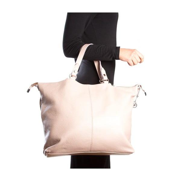 Kožená kabelka Fiora, růžová