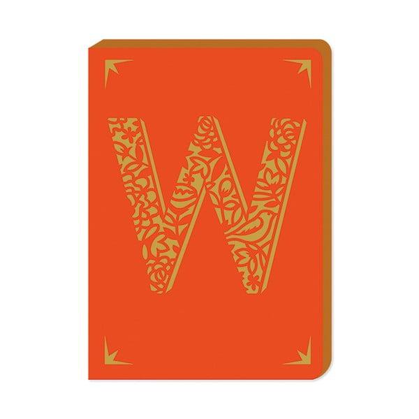 Linkovaný zápisník A6 s monogramem Portico Designs W, 160stránek