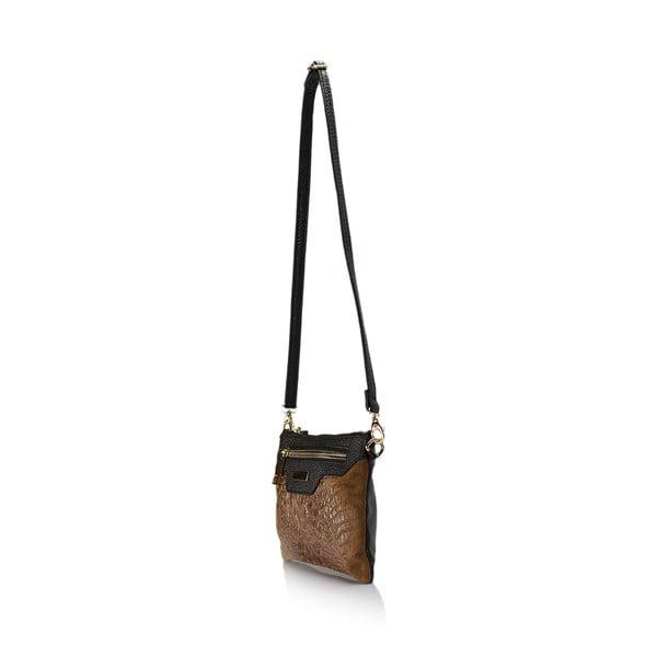 Koňakově hnědá kožená kabelka Lisa Minardi Veronica
