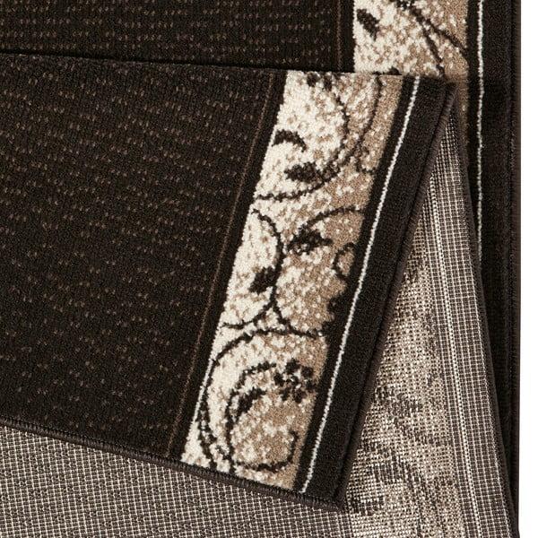 Koberec Basic Elegance, 80x350 cm, tmavě hnědý