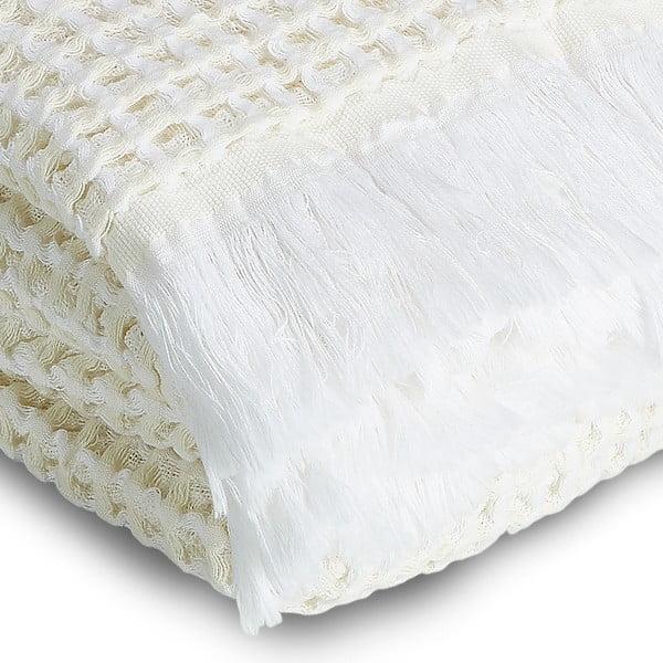 Osuška Whyte 100x160 cm, bílá/béžová