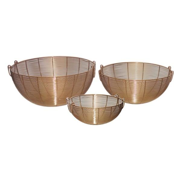 Sada 3 košíků z nerez oceli Poseidon