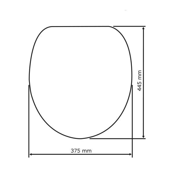 WC sedátko se snadným zavíráním Wenko Hawaii, 45 x 38,8 cm