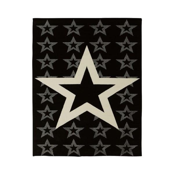 Koberec Hanse Home City & Mix Hvězda na černé, 140x200cm