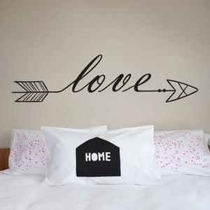 Samolepka Love Arrow, 70x50 cm