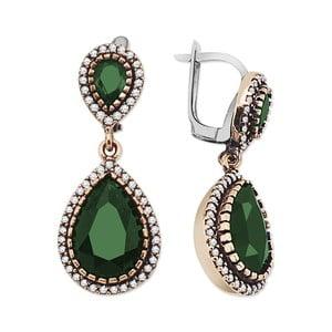 Cercei cu pietre verzi Aura Baghira