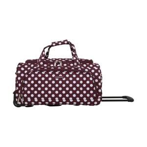 Fialová cestovní taška na kolečkách Travel World Raisa, 34l