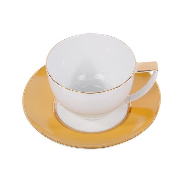Sada 6 hrnků na čaj s podšálkem Ramponi Amber