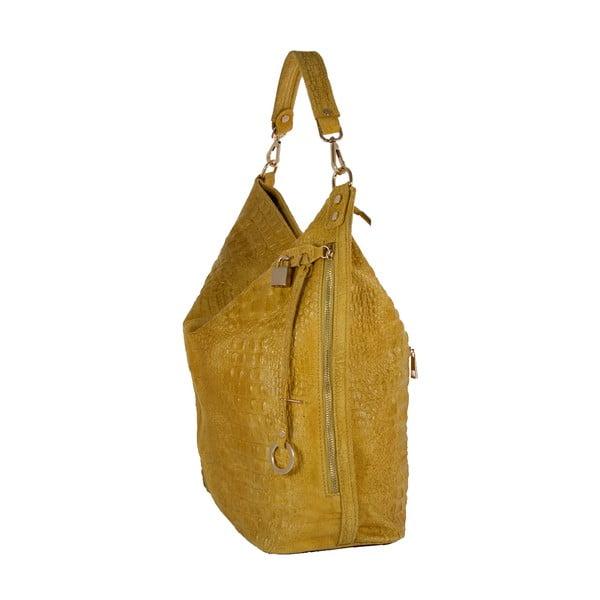 Žlutá kabelka z pravé kůže Andrea Cardone Edvige