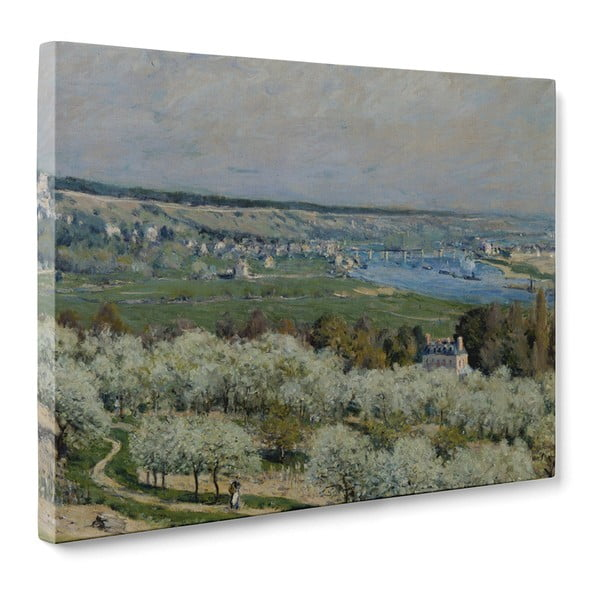 Obraz The Terrace at Sanit-Germain - Alfred Sisley, 50x70 cm