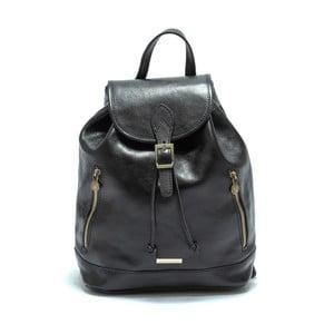 Černý dámský kožený batoh Anna Luchini Carinna