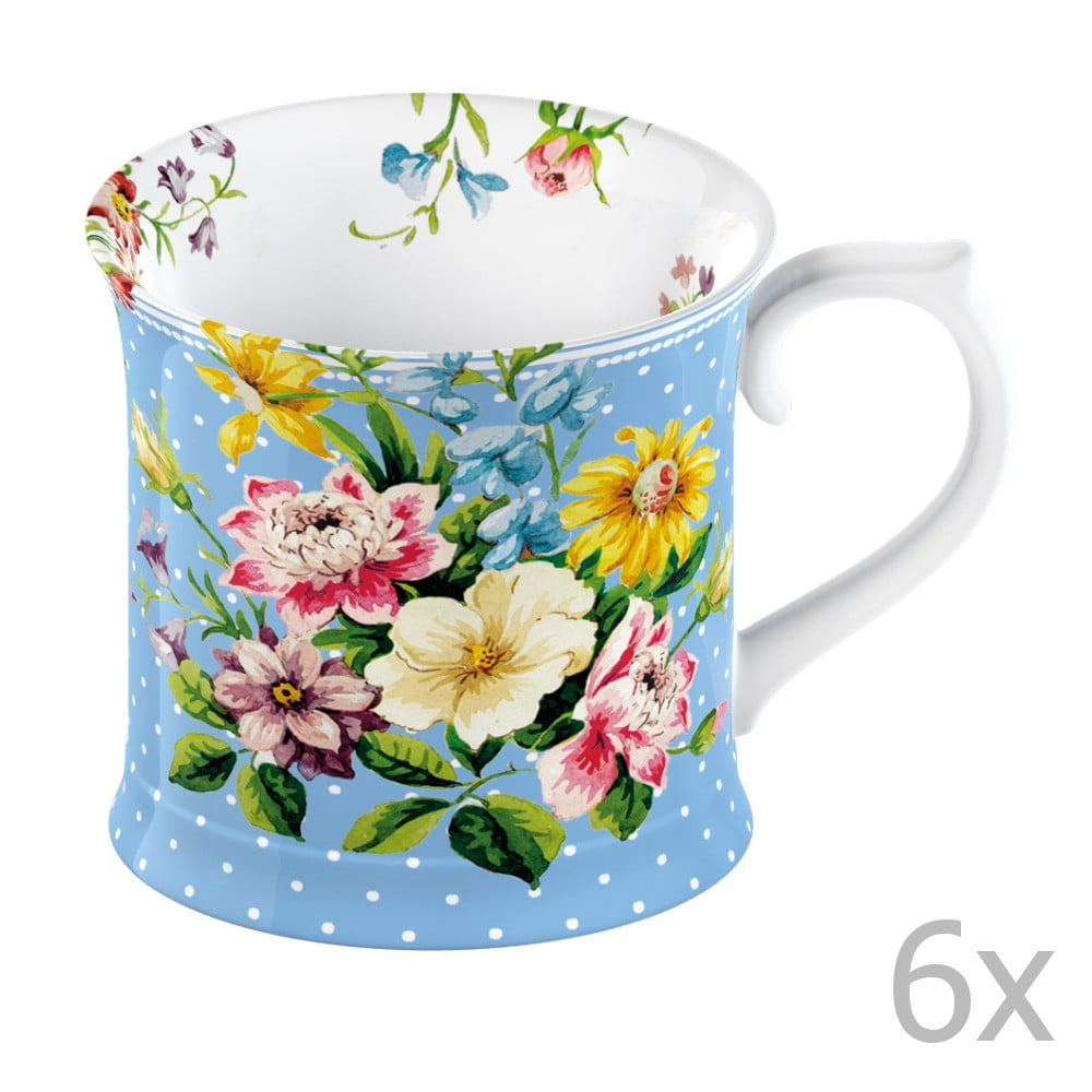 Sada 6 hrnků Katie Alice English Garden 350 ml