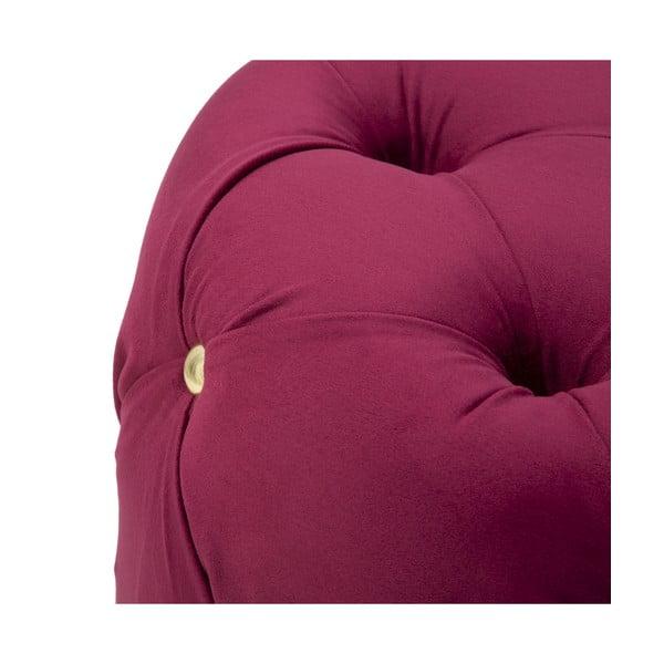 Vínově červená taburetka Mauro Ferretti Glam, ø 45cm