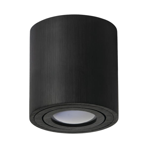 Černé stropní svítidlo Kobi Minimalism, výška 8,4 cm