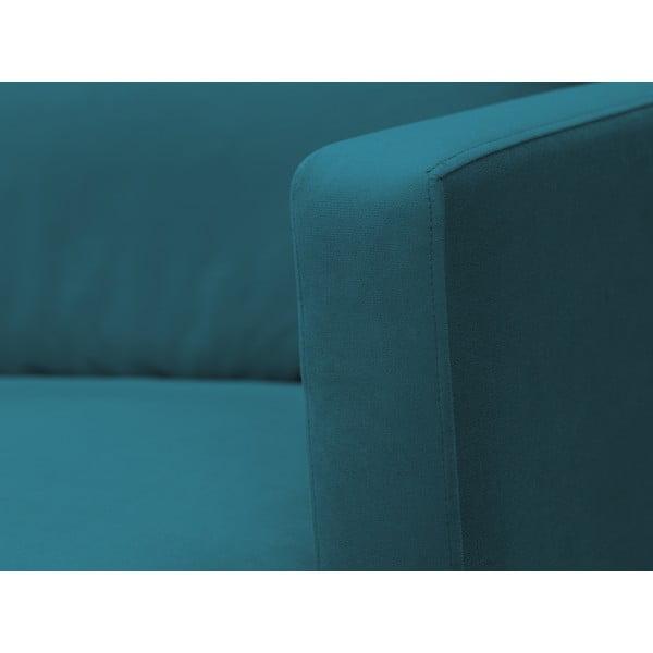 Tyrkysová dvojmístná pohovka s podnožím ve zlaté barvě Windsor & Co Sofas Jupiter