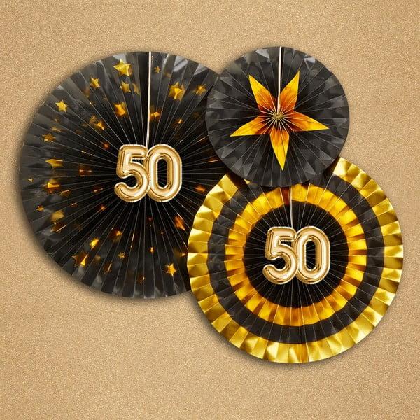 Sada 3 papírových dekorací Neviti Glitz & Glamour 50 Goldie