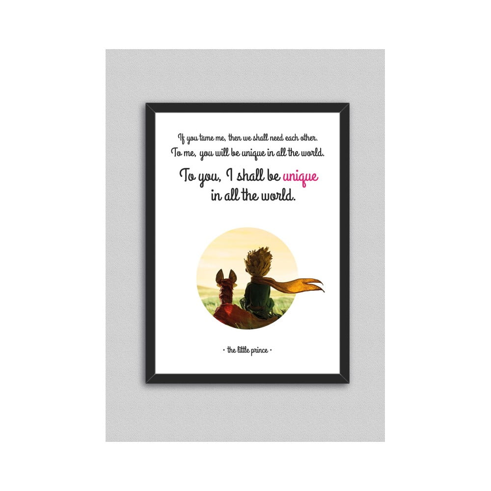 Obraz North Carolina Scandinavian Home Decors Little Prince Quote V3, 33 x 43 cm