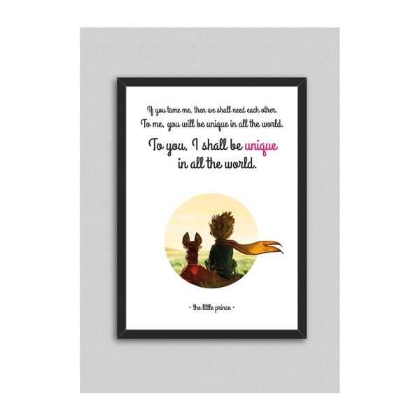 Obraz North Carolina Scandinavian Home Decors Little Prince Quote V3, 33x43 cm