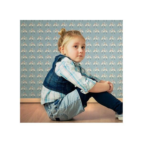 Vliesová tapeta My Little Princess Love Light 270x46.5 cm, modrá