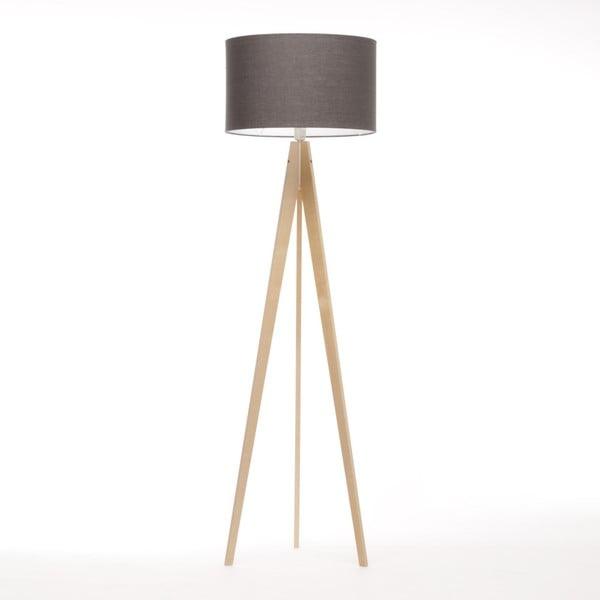 Hnědá stojací lampa 4room Artista, přírodní bříza, 150 cm